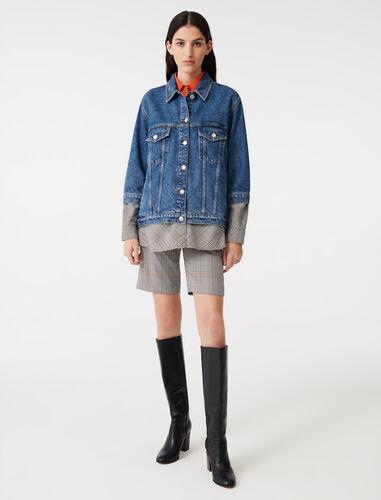 Denim trompe l'oeil jacket : Coats & Jackets color Blue