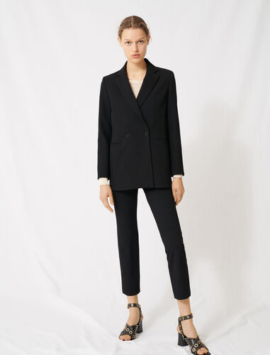 Double-breasted blazer : Blazers color Black