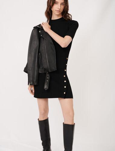 修身针织连衣裙 : 连衣裙 顏色 黑色/BLACK