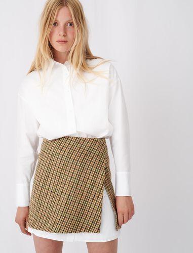 格纹衬衫连衣裙 : 连衣裙 顏色 驼色/CAMEL