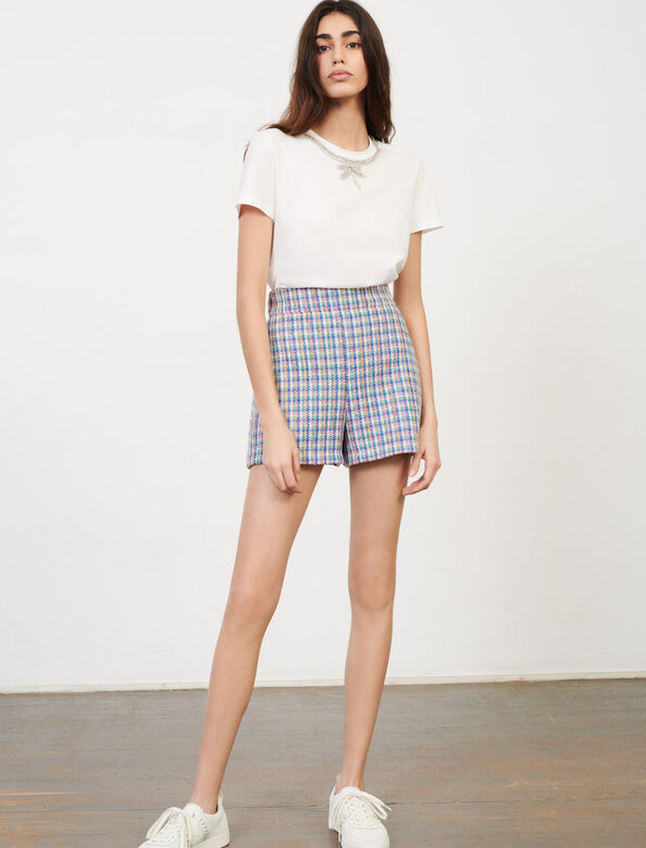 Tweed--style shorts : Shorts color Multi-Coloured