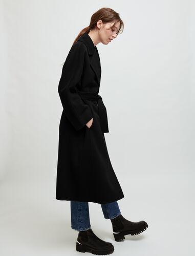 Double-faced wool-blend coat : Coats & Jackets color Ecru