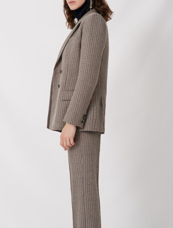 Checked suit jacket : Coats & Jackets color Blue/White