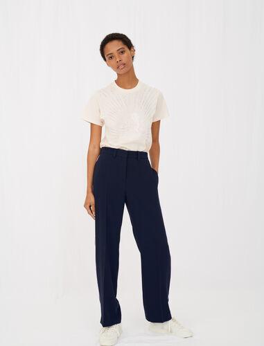 绉纱西装裤 : View All 顏色 深蓝色/NAVY
