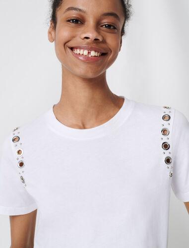 岩石孔眼白色T恤 : null 顏色 白色/WHITE