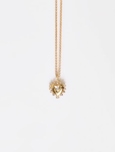 Heart pendant on chain : Jewelry color Gold