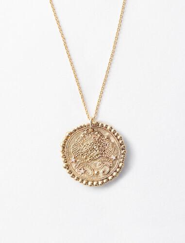 巨蟹座立体图案项链 : 首饰 顏色 古铜色/OLD BRASS