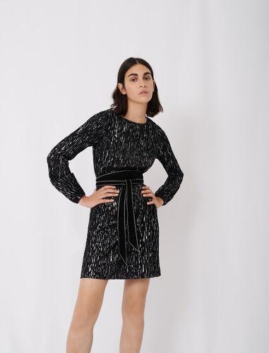 圆领宽松短款连衣裙 : 连衣裙 顏色 B018