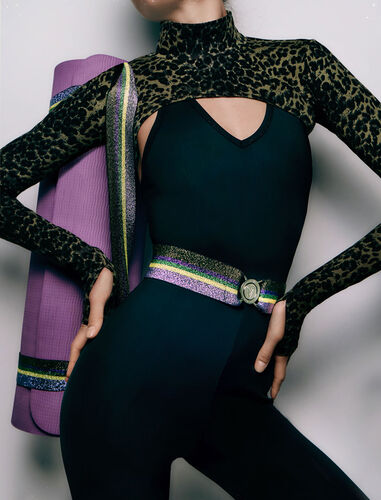 Yoga mat with strap : Other accessories color Mauve