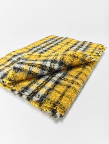 模糊格纹厚围巾 : Scarves and shawls 顏色 紫色/PURPLE