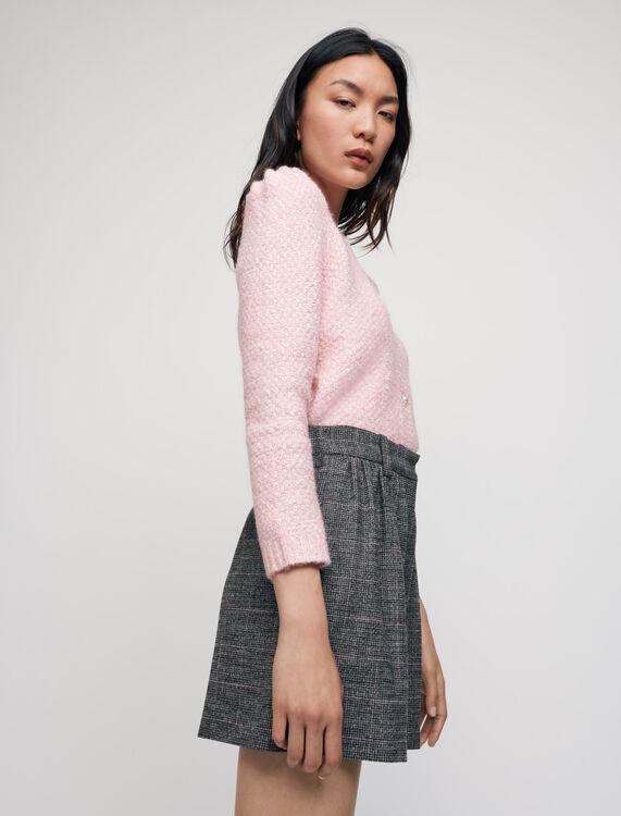 Flowing checked shorts - Skirts & Shorts - MAJE