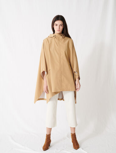 Oversized windbreaker pleated at back : Coats & Jackets color Camel