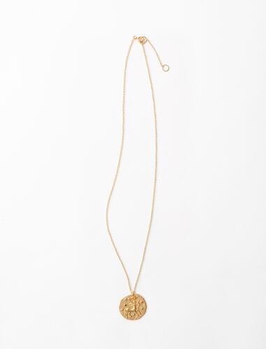 射手座雕刻工艺项链 : 星座系列 顏色 金色/GOLD