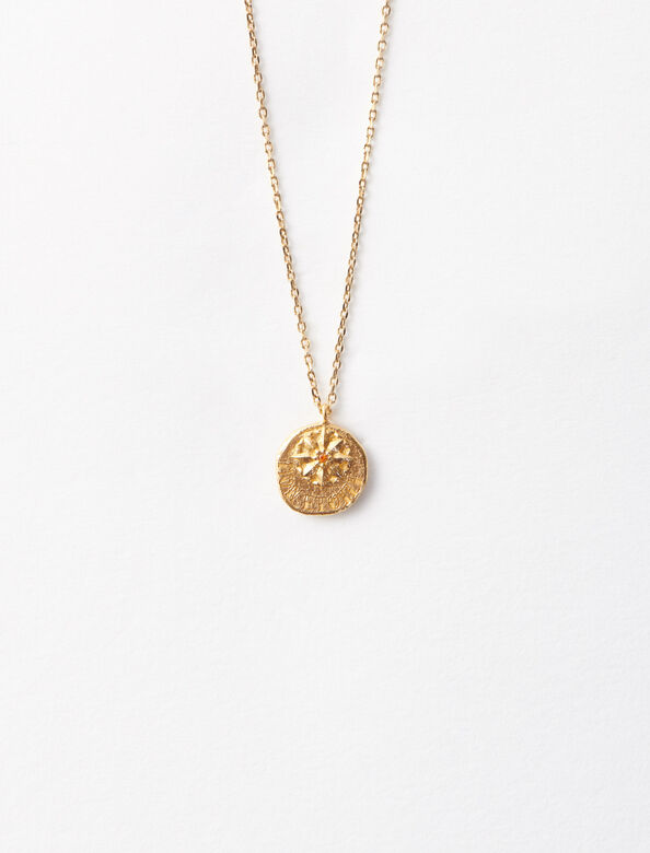 """Mon étoile"" gold-plated necklace : Sentimental medals color Gold"