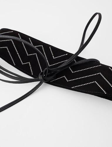 细绑带封腰腰带 : Belts color Black
