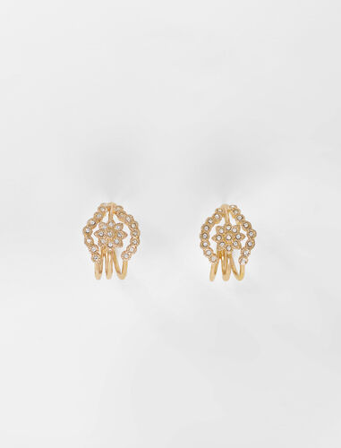 Semainier-style earrings : Other accessories color Gold
