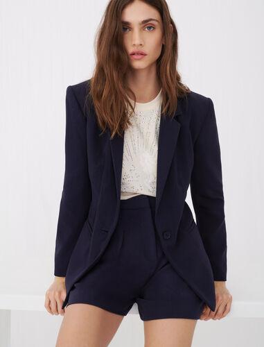 Crêpe suit jacket : Blazers color Navy