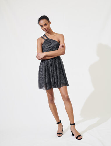 Sparkly dress with straps : Dresses color Silver