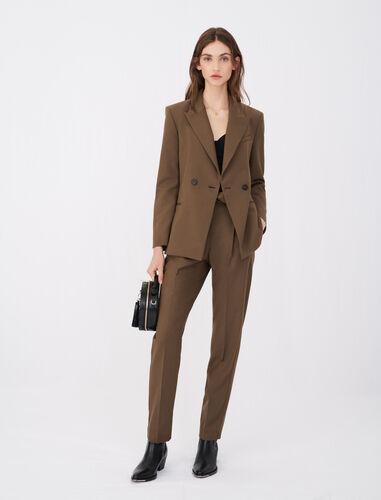 羊毛混纺西装外套 : 休闲西装 顏色 棕色/BROWN