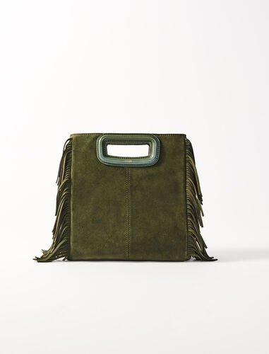 Suede M bag : M Bag color Khaki