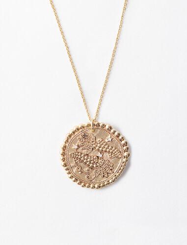 双鱼座立体图案项链 : Jewelry 顏色 古铜色/OLD BRASS