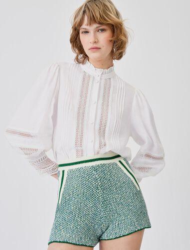 立领浪漫温柔款衬衫 : null 顏色 淡褐色/ECRU