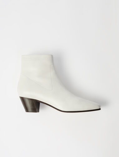 Suede sock boots : Boots & Flat shoes color Off White