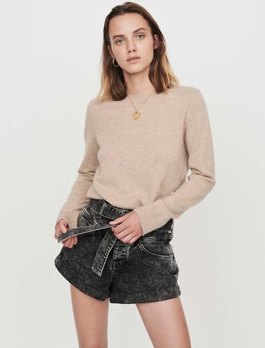Cashmere jewel-neck sweater : Sweaters color Red