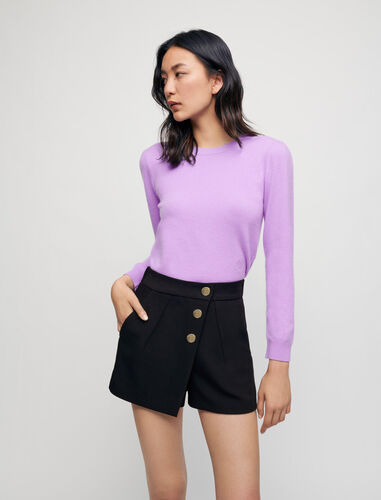 100% cashmere sweater : Sweaters color Parma Violet