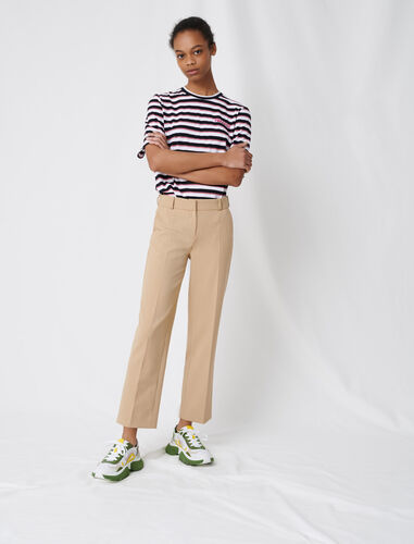 Beige tailored trousers : Trousers color Beige
