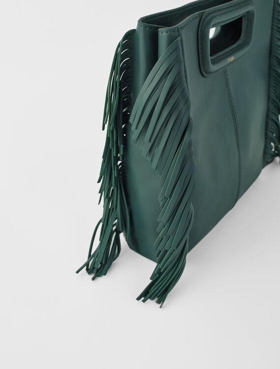 Leather M bag : M Bag color Dark green