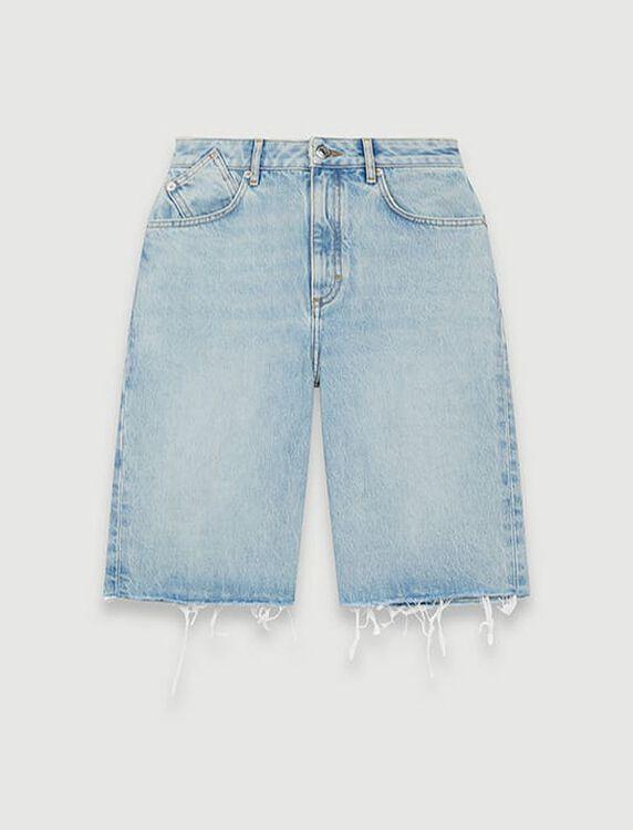 Straight-cut denim Bermuda shorts - Shorts - MAJE