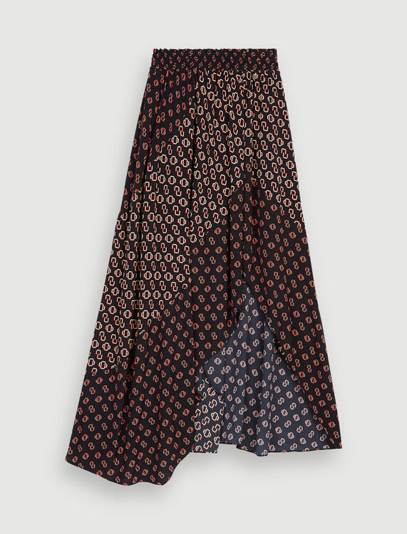 Maje printed split skirt - Skirts & Shorts - MAJE