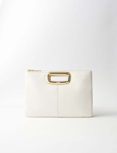 Leather M Duo Skin clutch : M Duo color Two-Tone