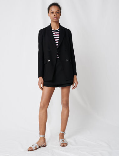 SUIT JACKET WITH BUTTONS : Blazers color Black