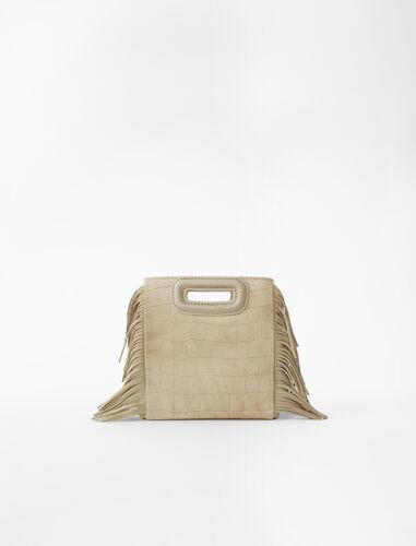 Mini embossed-suede M bag : M Mini color Sand