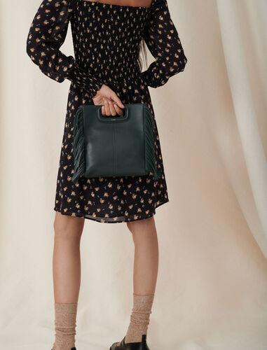 羊皮革流苏背提包 : M Bag 顏色 黑色/BLACK
