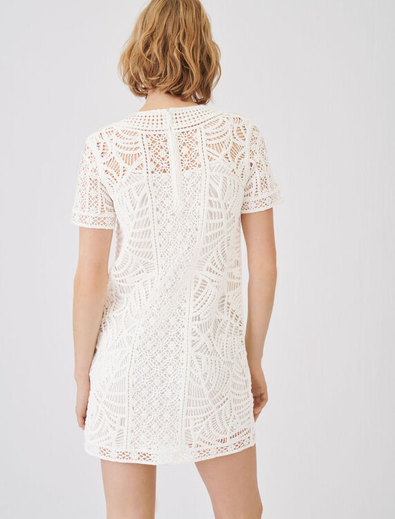 Macramé-style straight-cut dress - Dresses - MAJE