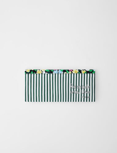 Zipped pencil case : Remade with love color Multi-Coloured