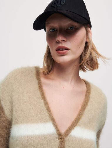 Cotton cap with clover motif : Other accessories color Black