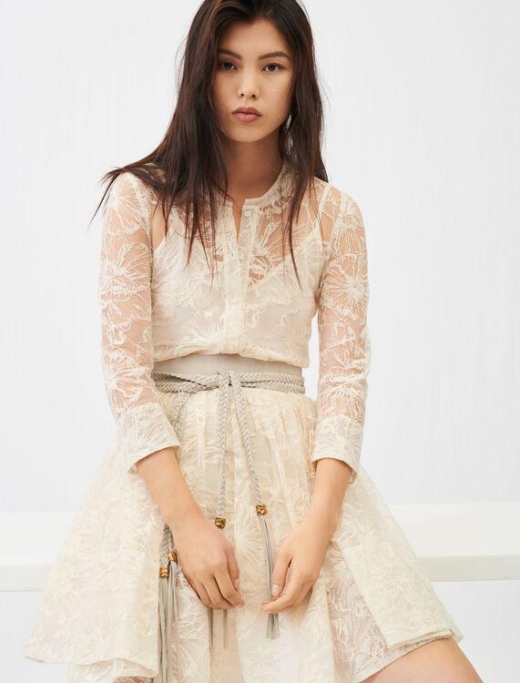 Belted lace dress - Dresses - MAJE