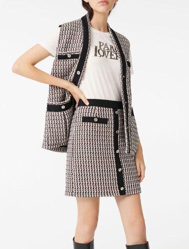 Tweed-style lurex skirt : Skirts color Multi-Coloured