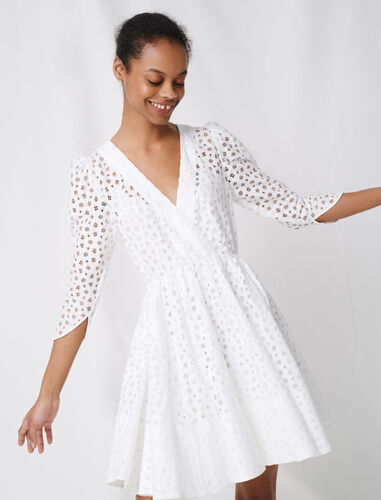White lace dress : Dresses color White