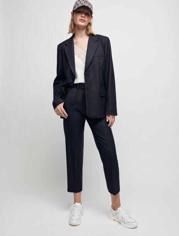 Cashmere wool trousers - Trousers & Jeans - MAJE