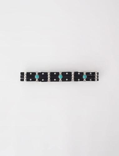 绿松石花纹皮带 : null 顏色 黑色/BLACK