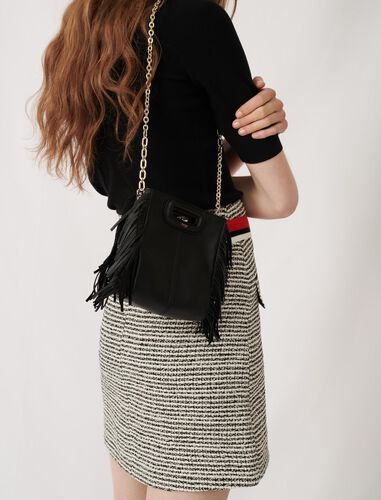 Mini leather M bag with chain : M Mini color Black