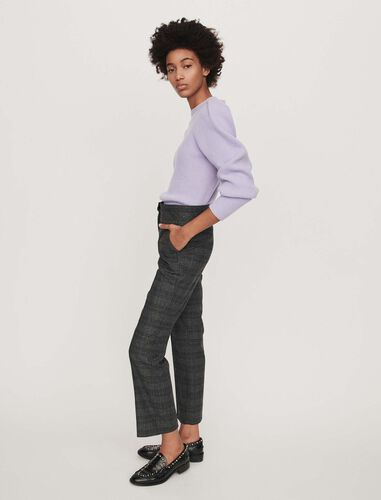 Prince of Wales pants : Trousers color Grey