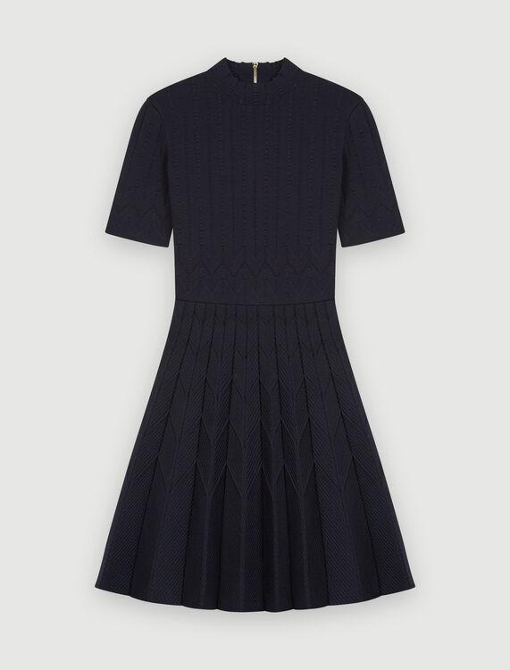 Jacquard knit skater dress - Dresses - MAJE