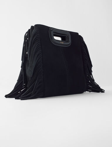 Suede mini M bag with chain : M Mini color Navy