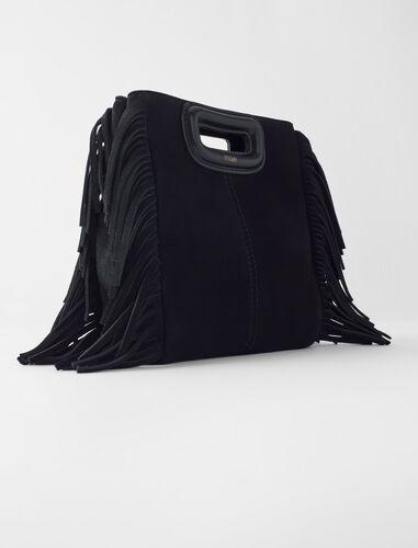 M流苏绒面手提包 : M Mini 顏色 深蓝色/NAVY